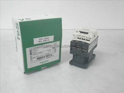 LC1D18G7 Schneider Contactor, 600VAC, 18A, 3-Pole, 120VAC Coil ( New in Box )