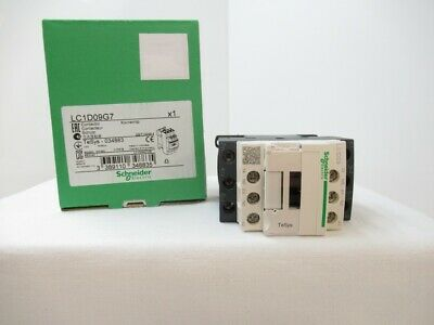 LC1D09G7 Schneider Contactor, 600VAC, 9A, 3-Pole, 120VAC Coil ( New in Box )