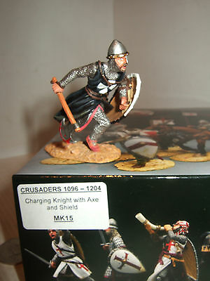 King and Country MK15 Knight on Foot Charging with Axe & Shield in 1:30 Scale