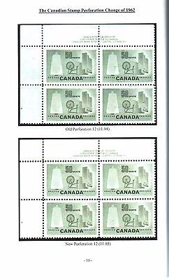The Canadian Stamp Perforation Change of 1962 (Booklet)
