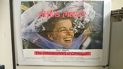 The Madwoman of Chaillot Original Quad Movie Film Poster 1969  Large