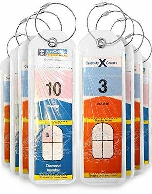 Cruise Luggage Tags Holders 8 Pc For Royal Caribbean and Celebrity Cruise Ships