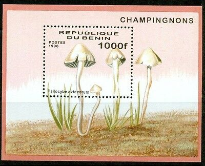 Benin - 1996 – Mushrooms  – S/s Vf  **