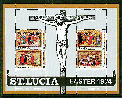 St.lucia - 1974 – Easter – S/s Vf  **