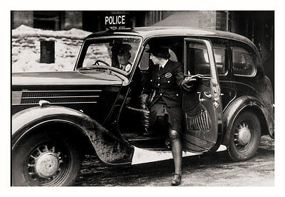 PHOTO TAKEN FROM A 1940's IMAGE OF WOMENS AUXILLARY POLICE CORP