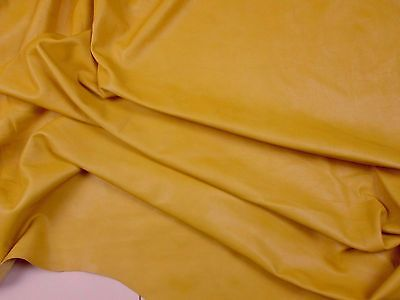 Cowhide leather yellow for bags & furnishing etc BARKERS HIDE N280