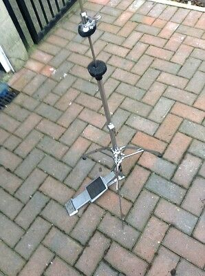 Free P&P. Vintage Premier Hi Hat Cymbal Stand w Clutch for Drum kit.