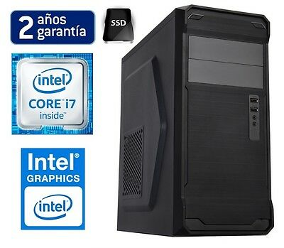 PC ORDENADOR SOBREMESA INTEL CORE i7 Quad | 16GB RAM | 1TB HDD |  INTEL HD 2000