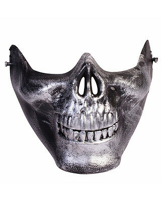 Adult Black Scary Lower Face Skull Half Mask Mad Max Costume Accessory