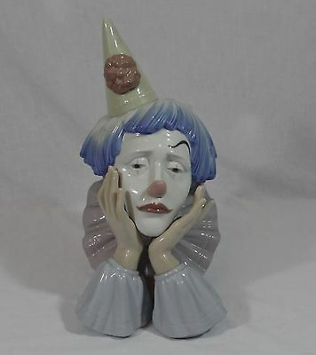 Large Lladro Pensive Clown / Jester - In Excellent Undamaged Condition