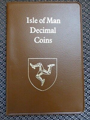1983 Isle of Man Decimal Coin Set Collection in Presentation Wallet - Good