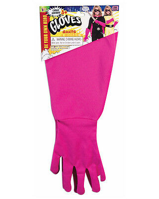 Child's Be Your Own Superhero Super Hero Pink Gauntlet Gloves Costume Accessory