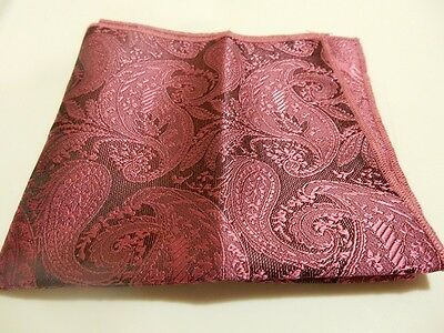 2 for $15 - Pocket Square - Paisley Pattern - 3 Different Colours