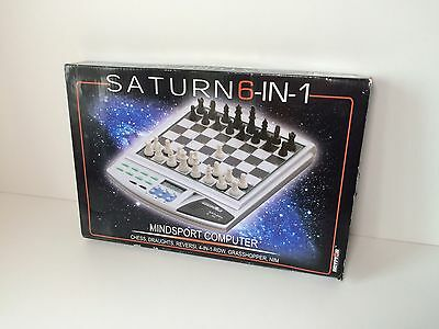 Saturn Mindsport 6 in 1 Computer Chess Draughts  Electronic Games Car Holiday