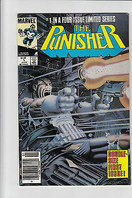 Punisher #1 VF+ 8.5 Limited Series Mike Zeck Art First Issue!! newstand variant!