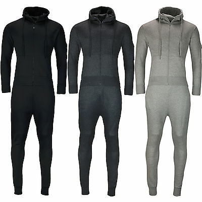 New Mens Slim Fit Tracksuit Set Fleece Hoodie Top Bottoms Jogging Joggers Gym