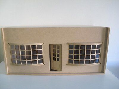 12th SCALE FLAT PACK READY TO ASSEMBLE UNPAINTED MDF DOLLSHOUSE/SHOP ROOMBOX