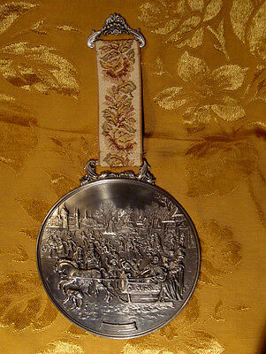 Wmf Zinn  Pewter Wall Hanging Medallion *winter* Made In Germany
