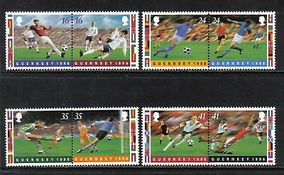 Guernsey 1996 Soccer Championships--Attractive Sports Topical (566-69) MNH