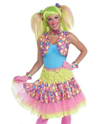 Women's Circus Sweetie Pink Polka Dot Costume Accessory Clown Vest