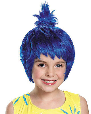 Child's Disney Inside Out Joy Emotion Feeling Blue Wig Costume Accessory