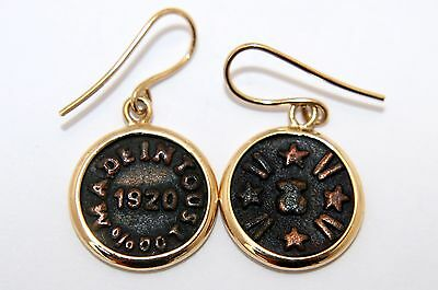 TOUS pendientes oro 18 quilates y plata (18K yellow gold and silver earrings)