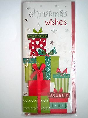 """Luxury Embellished 3D """"christmas Wishes"""" Gift Boxes Greeting Card ~ #51"""