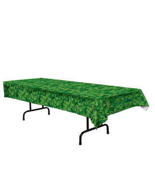 Happy Saint Patrick's Day Green Shamrock Table Cover Tablecover Party Decoration