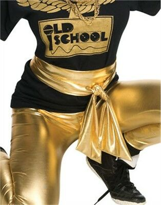 Adult Women's Gold Lame Shiny Belt Costume Waist Sash