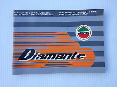 Laverda Diamante Specifications - Operations - Maintenance Manual New/old Stock
