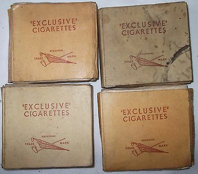Vintage Live Packets 4 X 20 Exclusive Cigarettes Pre Health Warning