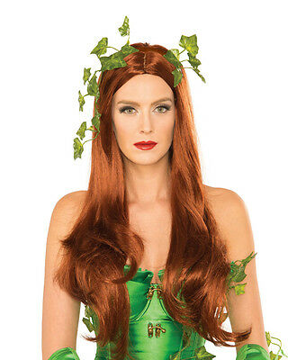 Adult Womens Poison Ivy Batman Super Villain Wig Costume Accessory