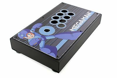All Metal Modular Mega Man Themed Custom Arcade Fight Stick Case Enclosure