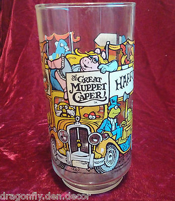 McDonalds Collectible Drinking Glass - The Great Muppet Caper - Happiness Hotel