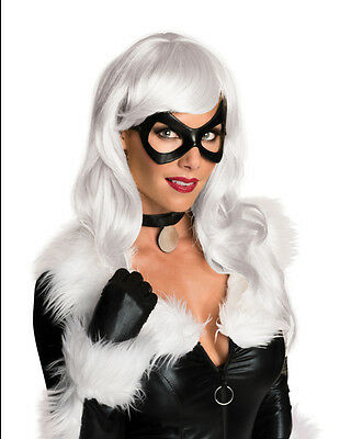 Adult's Womens Marvel Comics Black Cat White Wig Costume Accessory