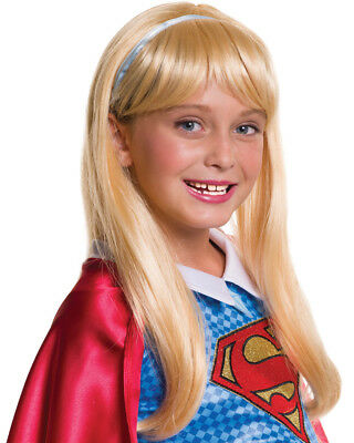 Child's Girls DC Super Hero Girls Supergirl Wig Costume Accessory