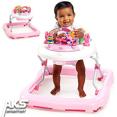 Toddler Walker Activity Assistant Baby Toy Play Infant Girl Adjustable Pink New