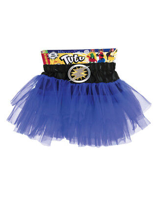 Child's Be Your Own Superhero Super Hero Blue Tutu Skirt Costume Accessory