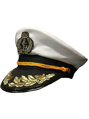 Deluxe New Yacht Boat Captain's Sailing Fishing Hat Cap