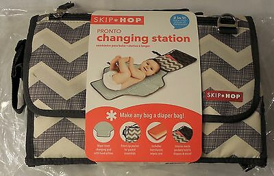 Skip Hop Pronto Changing Station w/Cushioned Changing Mat & Wipes Case, Chevron