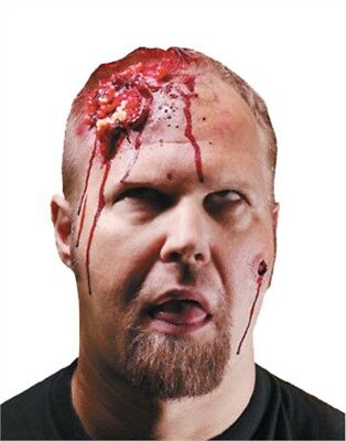 Exposed Brains Prosthetic Latex Head Scar Wound Costume