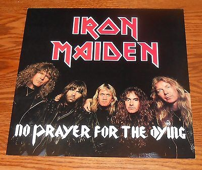 Iron Maiden No Prayer for the Dying Poster Flat 1990 Square 2-Sided Promo 12x12