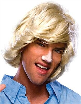 Adult Mens Blonde 70s 80s Surfer Dude Beach Bum Wig