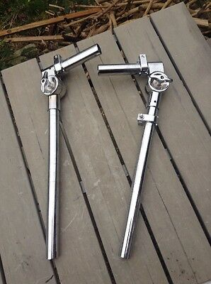 Free P&P. Pair Of 22mm Pear Style Tom Arms, Holder Mount Stem For Drum Kit.