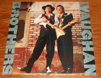 The Vaughan Brothers Family Style Poster Flat 1990 Promo 12x12 RARE Stevie Ray