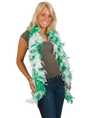 Large Green And White St. Patrick's Day Irish Feather Boa