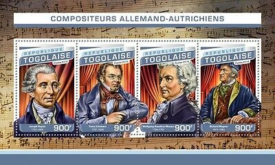 Z08 IMPERFORATED TG16513a TOGO 2016 Composers Haydn, Schubert, Mozart, Wagner MN