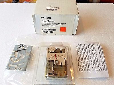 SIEMENS 192-202 Pneumatic Thermostat Room & Wall Plate TH192S