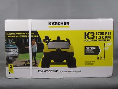 New Karcher K3 Follow Me Electric 1700PSI 1.3 GPM Universal Pressure Washer
