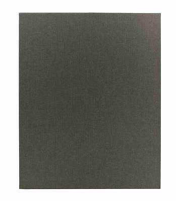 "(10pc) Poly-Cotton Wrapped Menu Cards, Gray, 1-panel, 8.5"" x 11"" insert"